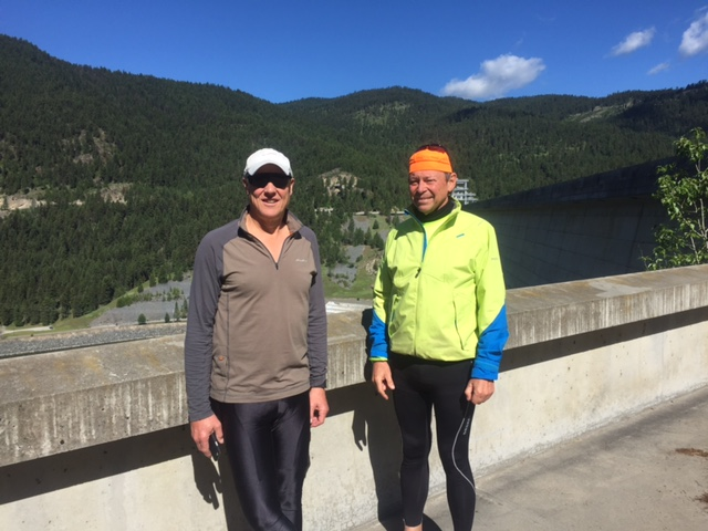 Bruce and Rick overlooking the Kootenai River.